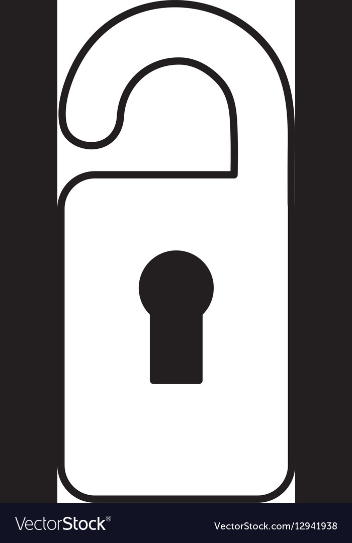Label hotel isolated icon