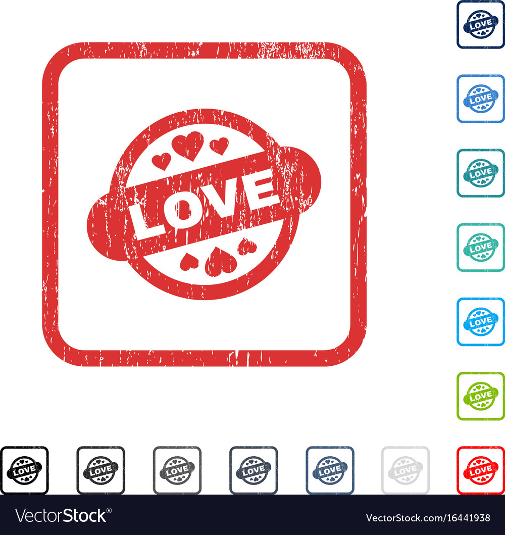 Love stamp seal icon rubber watermark vector image