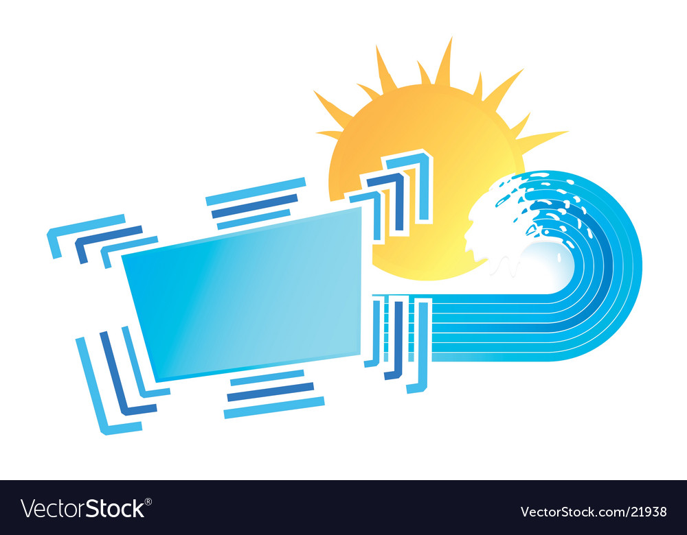 Sunny waves design element