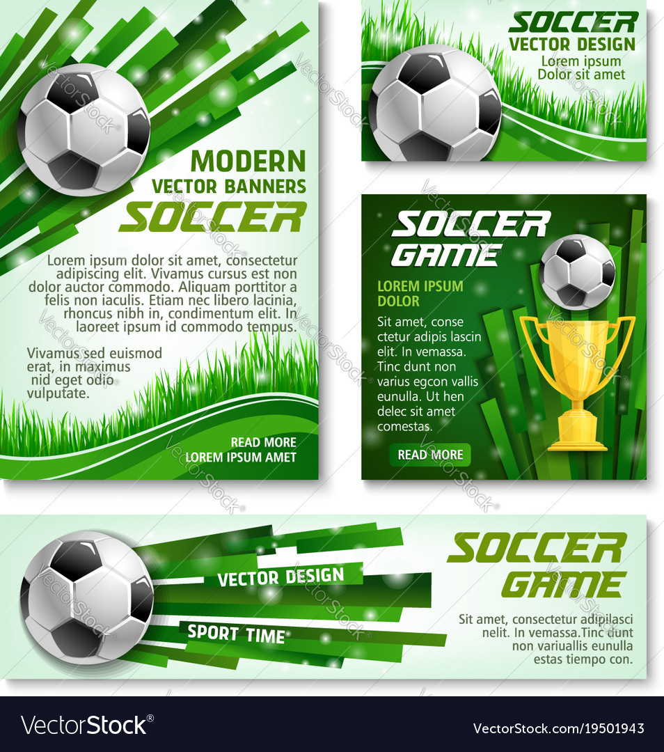 Football cup soccer team banner posters