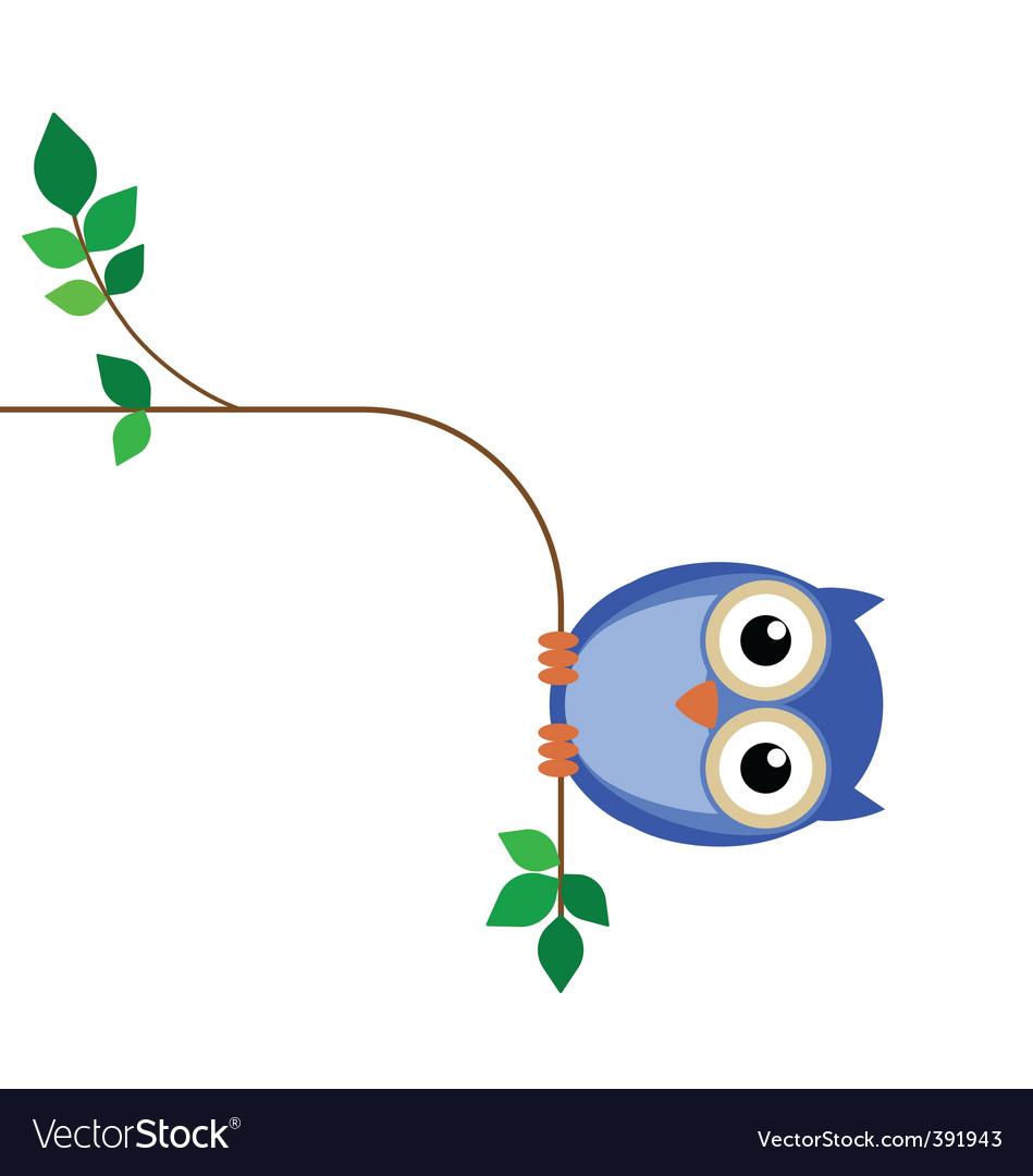 Owl fat vector image