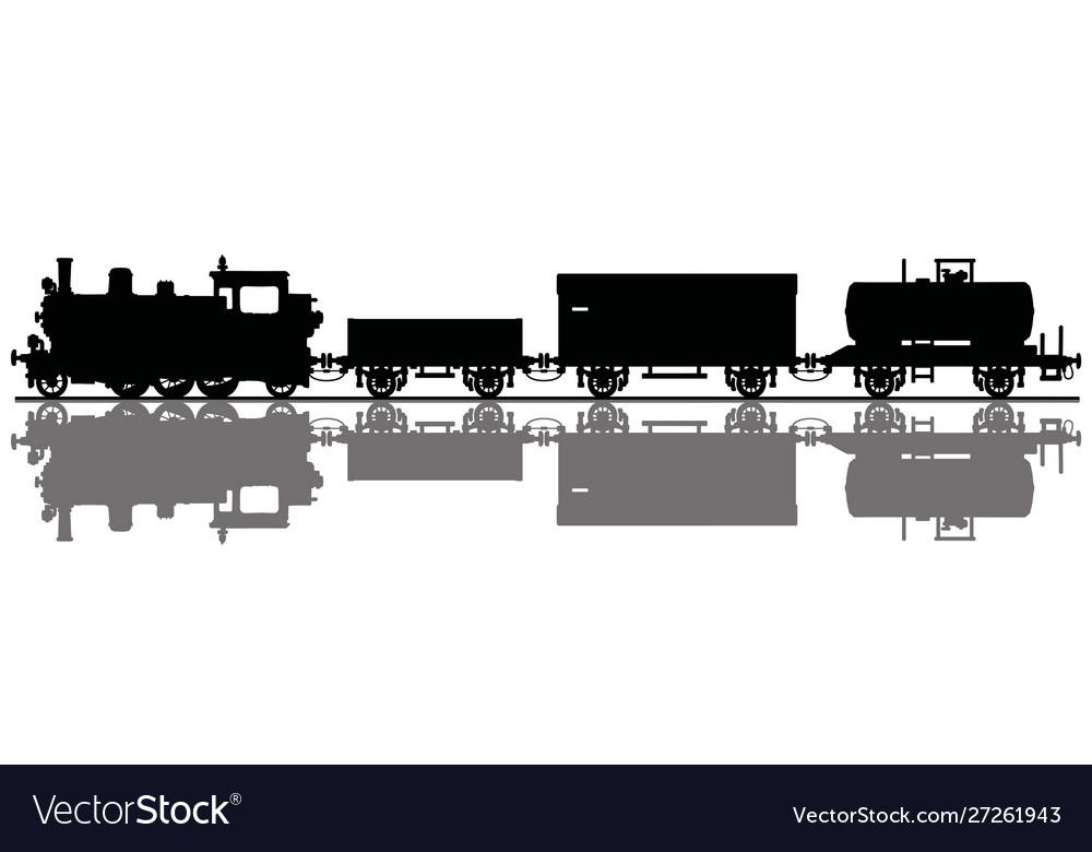 Vintage freight steam train