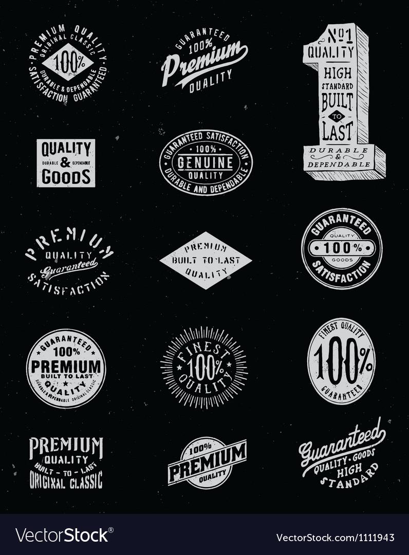 Vintage label set