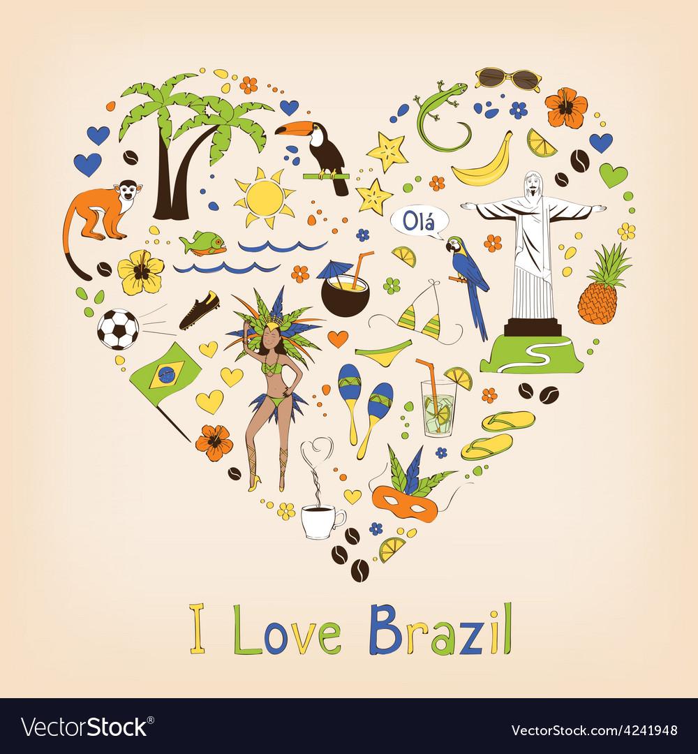 Brazil set vector image