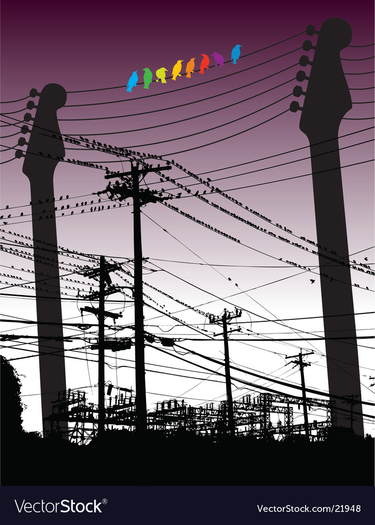 Electricity guitars vector image