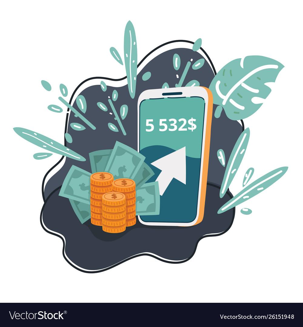 Money app in smartphone
