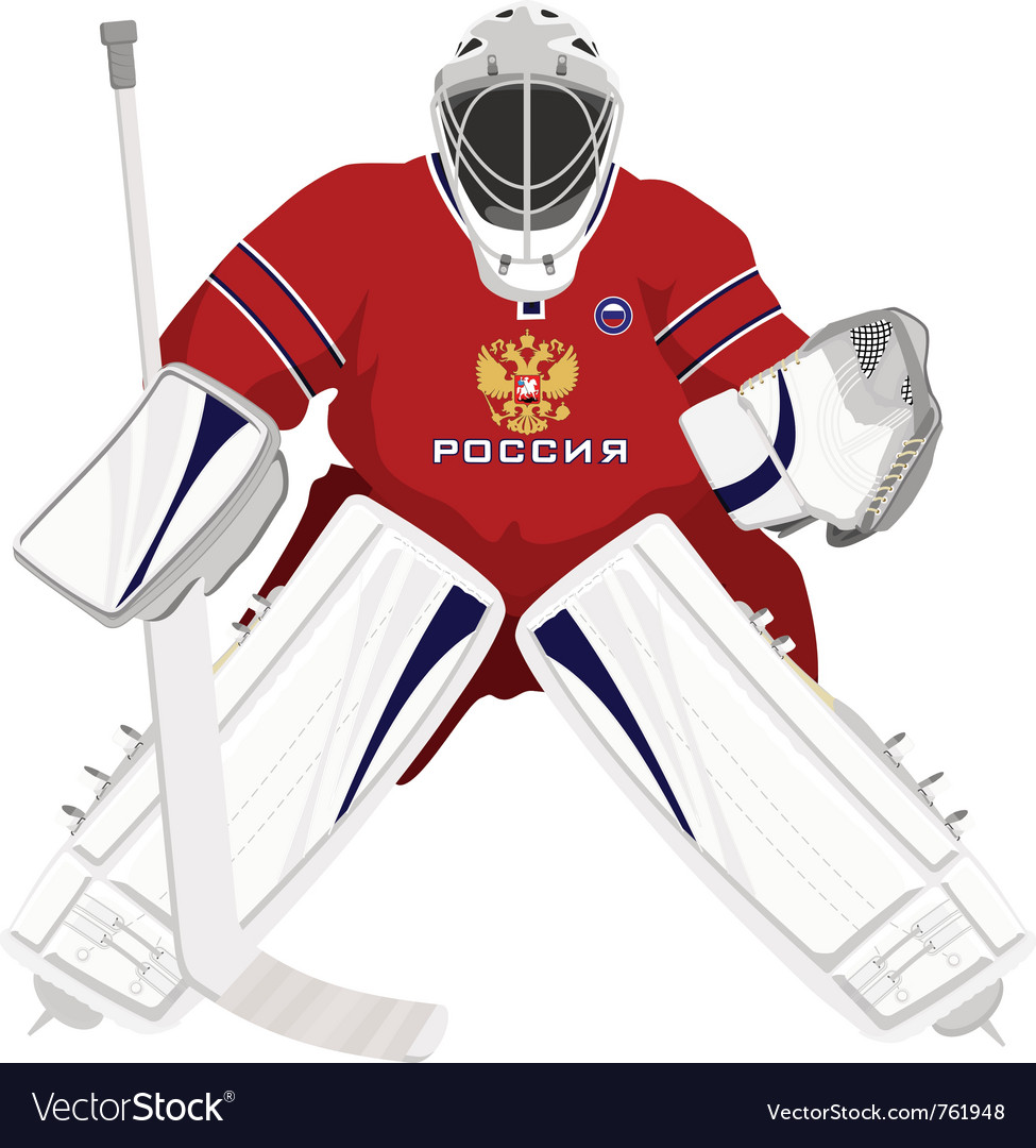 Team Russian Hockey Goalie Royalty Free Vector Image