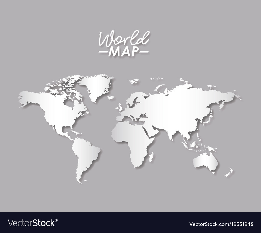 World map in grayscale color silhouette royalty free vector world map in grayscale color silhouette vector image gumiabroncs Gallery