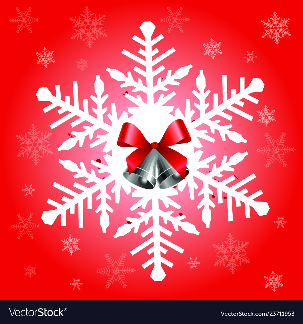 Big snowflake in red color