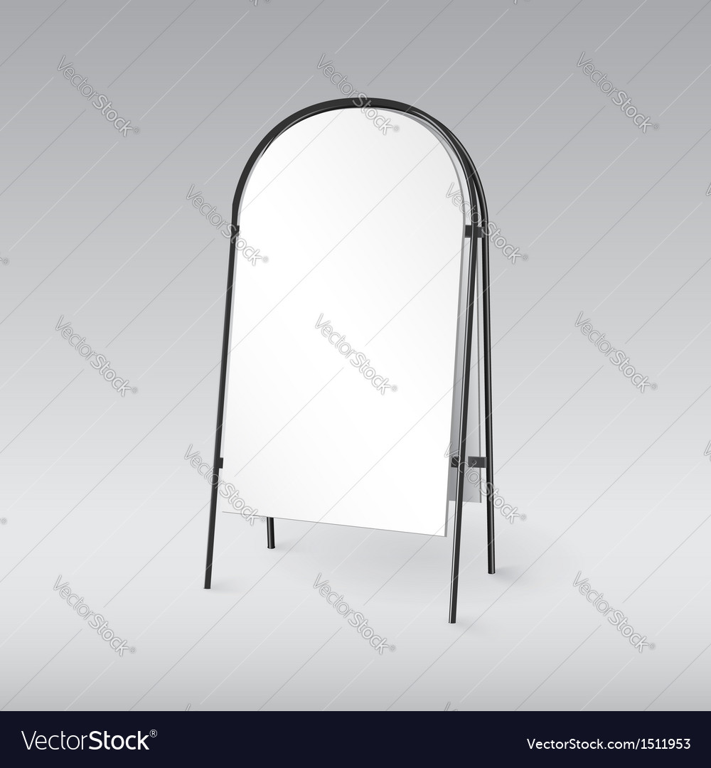 Blank sandwich board isolated template for your vector image