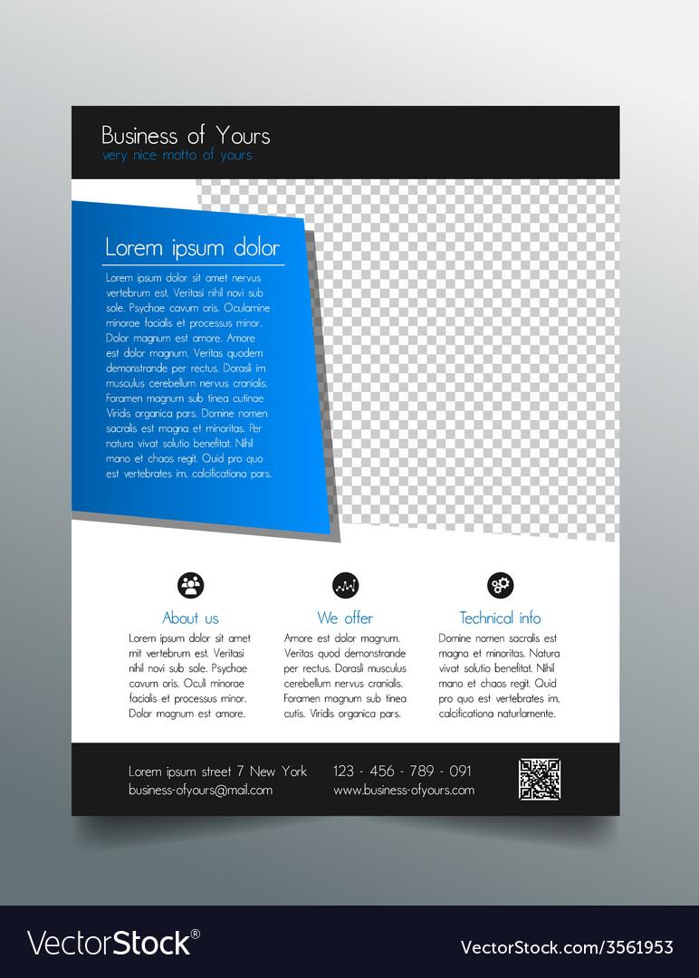 business flyer template modern sleek design vector image