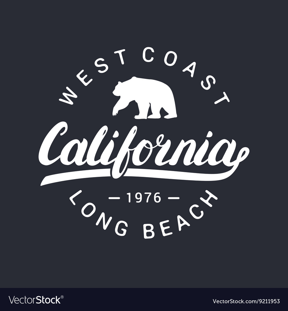 California handwritten lettering tee apparel