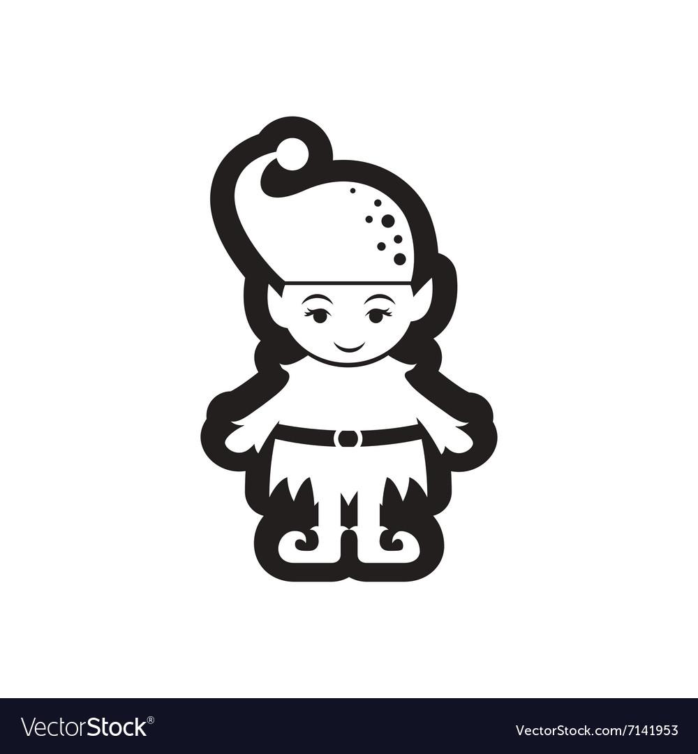 Black Girl Christmas Elf Holding Present Cartoon Vector Clipart -  FriendlyStock