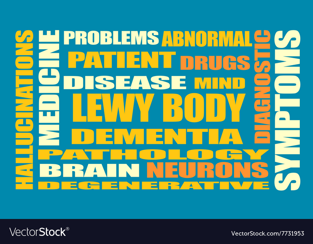 Lewy body dementia relative words list