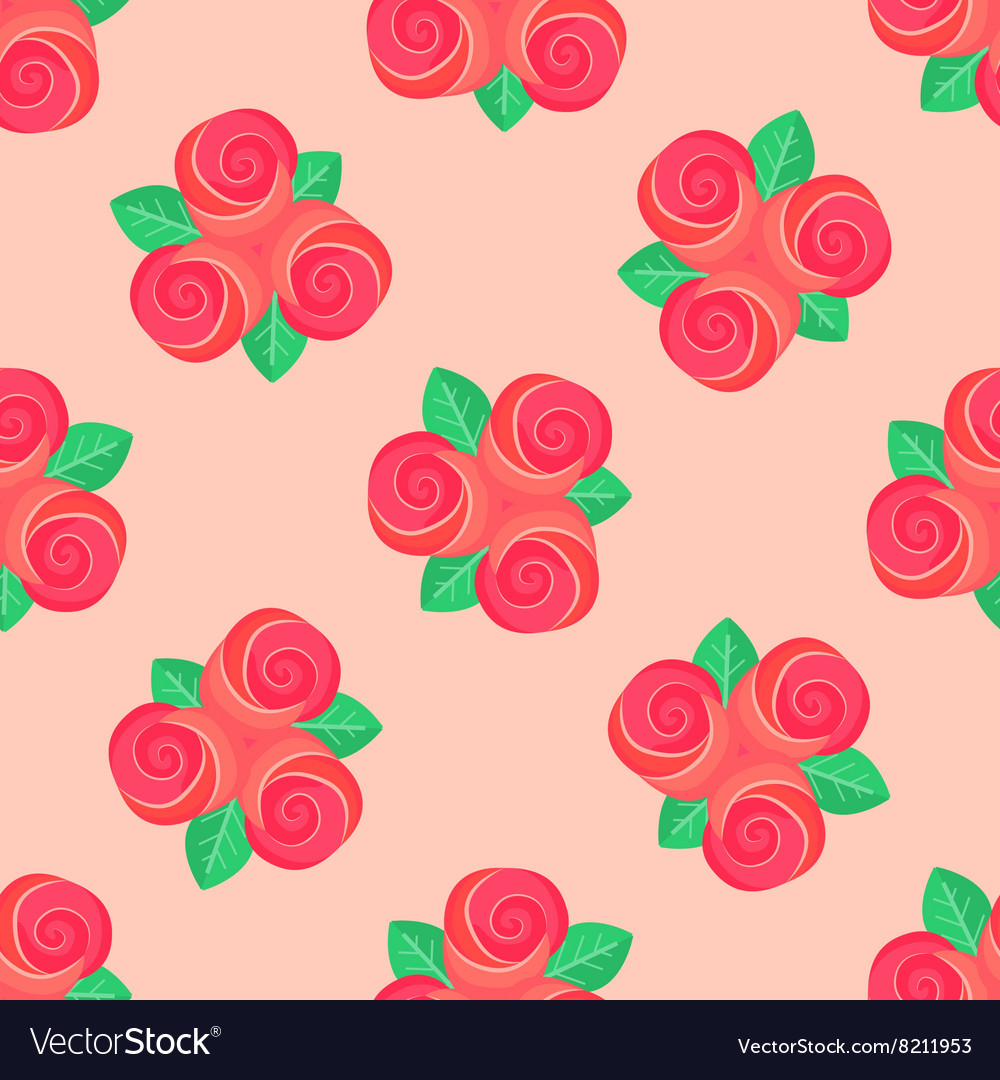 Little pink rose seamless background