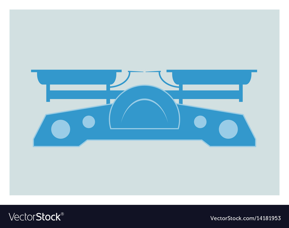 Old market scale vector image