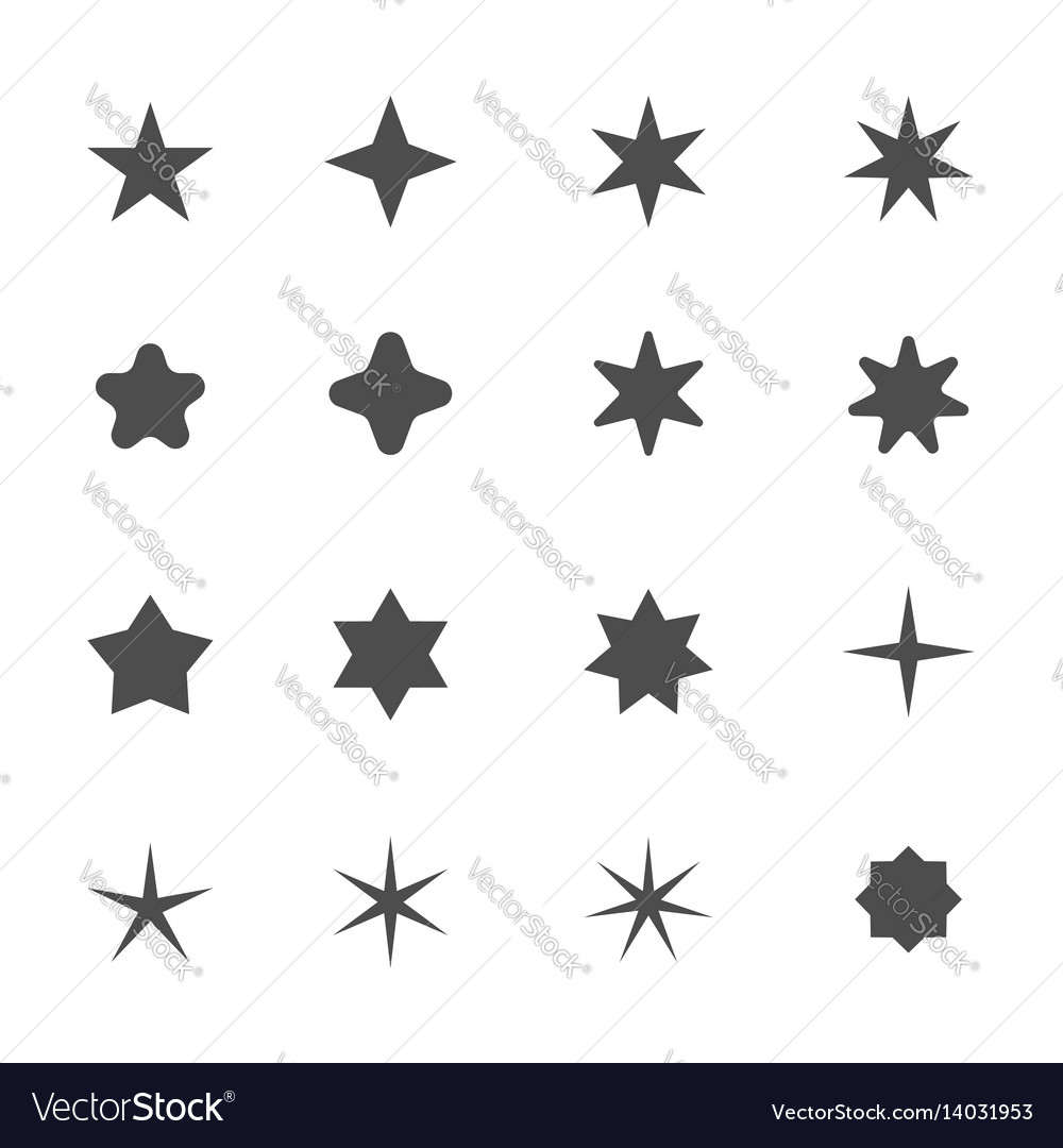 Star shape icons