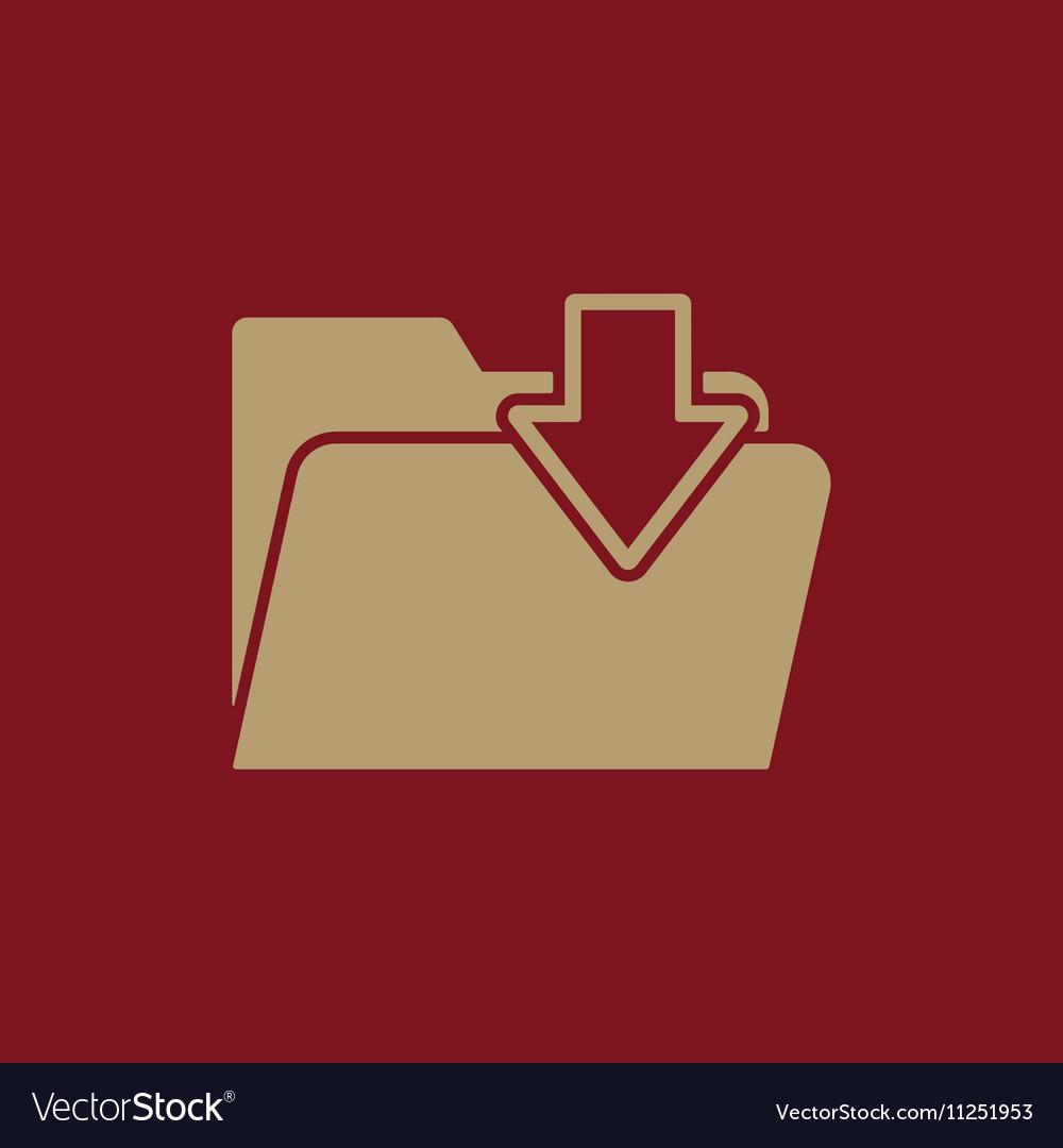 The folder icon File download symbol Flat