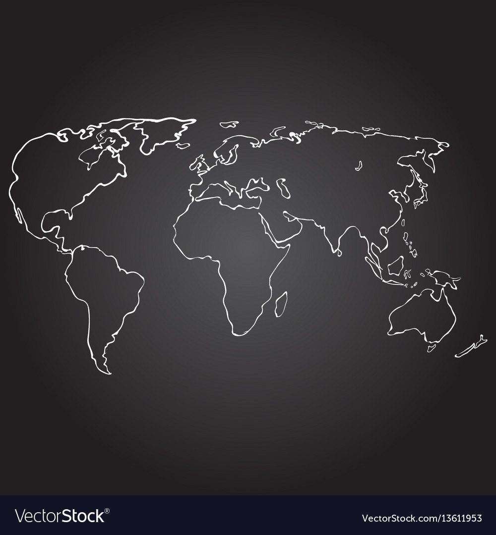 World map contour on royalty free vector image world map contour on vector image gumiabroncs Images