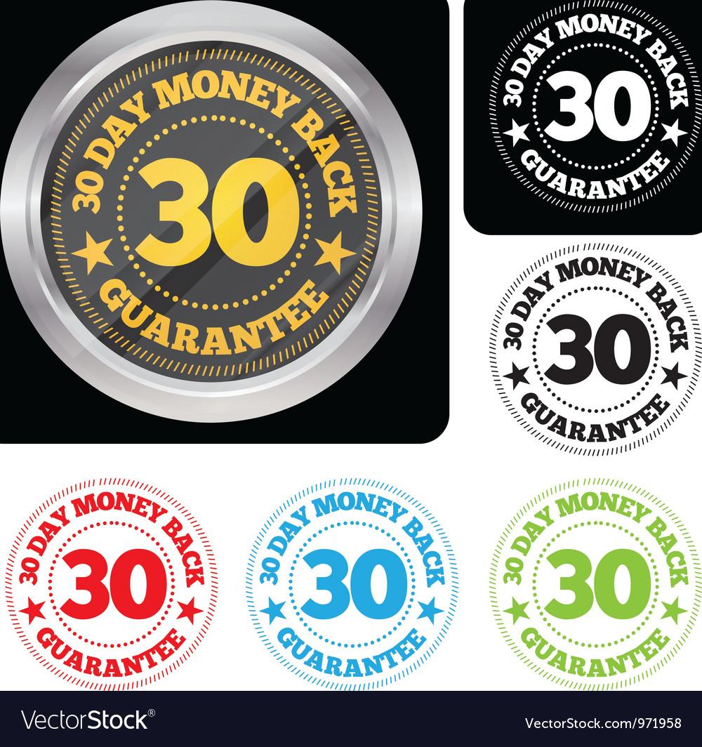 30 Day Money Back Guarantee Seal Set