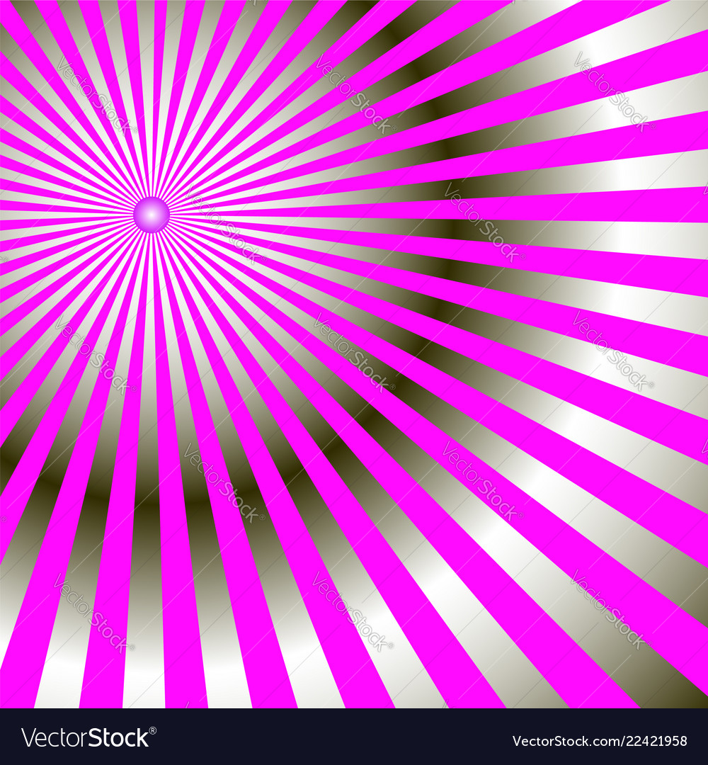 Abstract radial rays of bright pink color