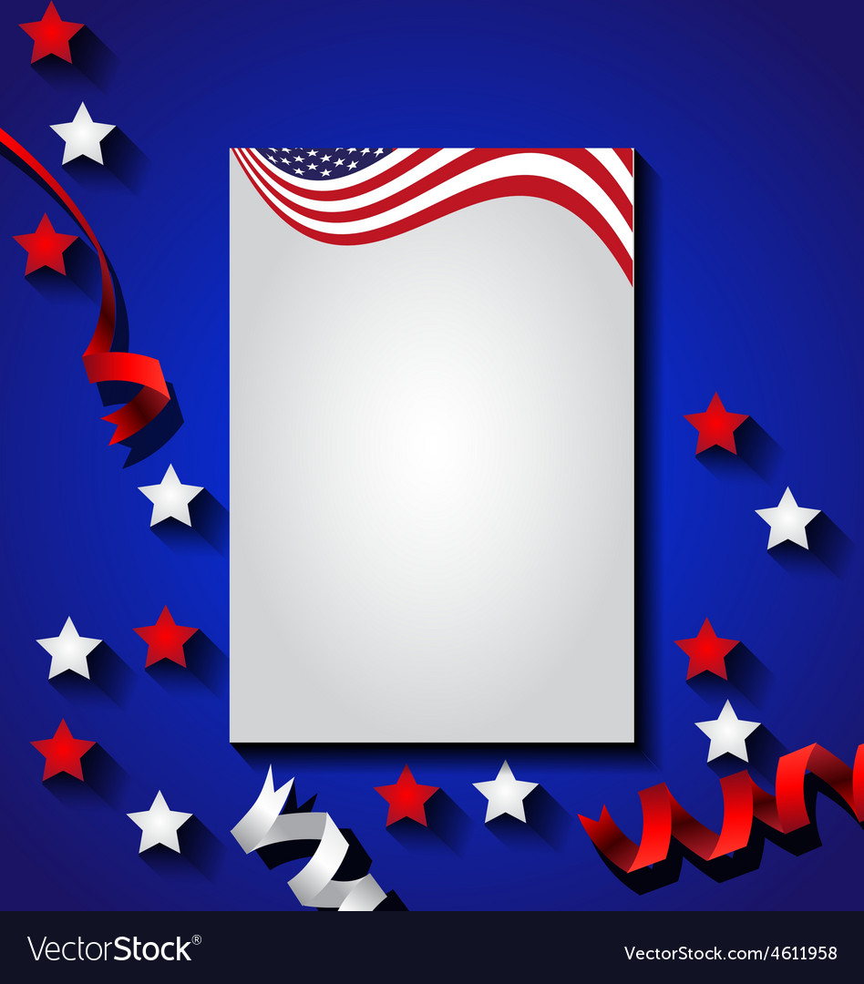 American flag background for Independence Day USA