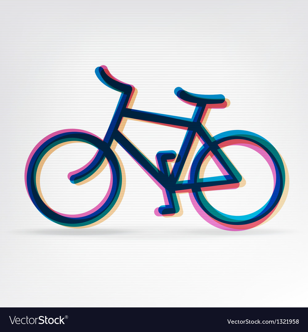 Colorful bicycle icon