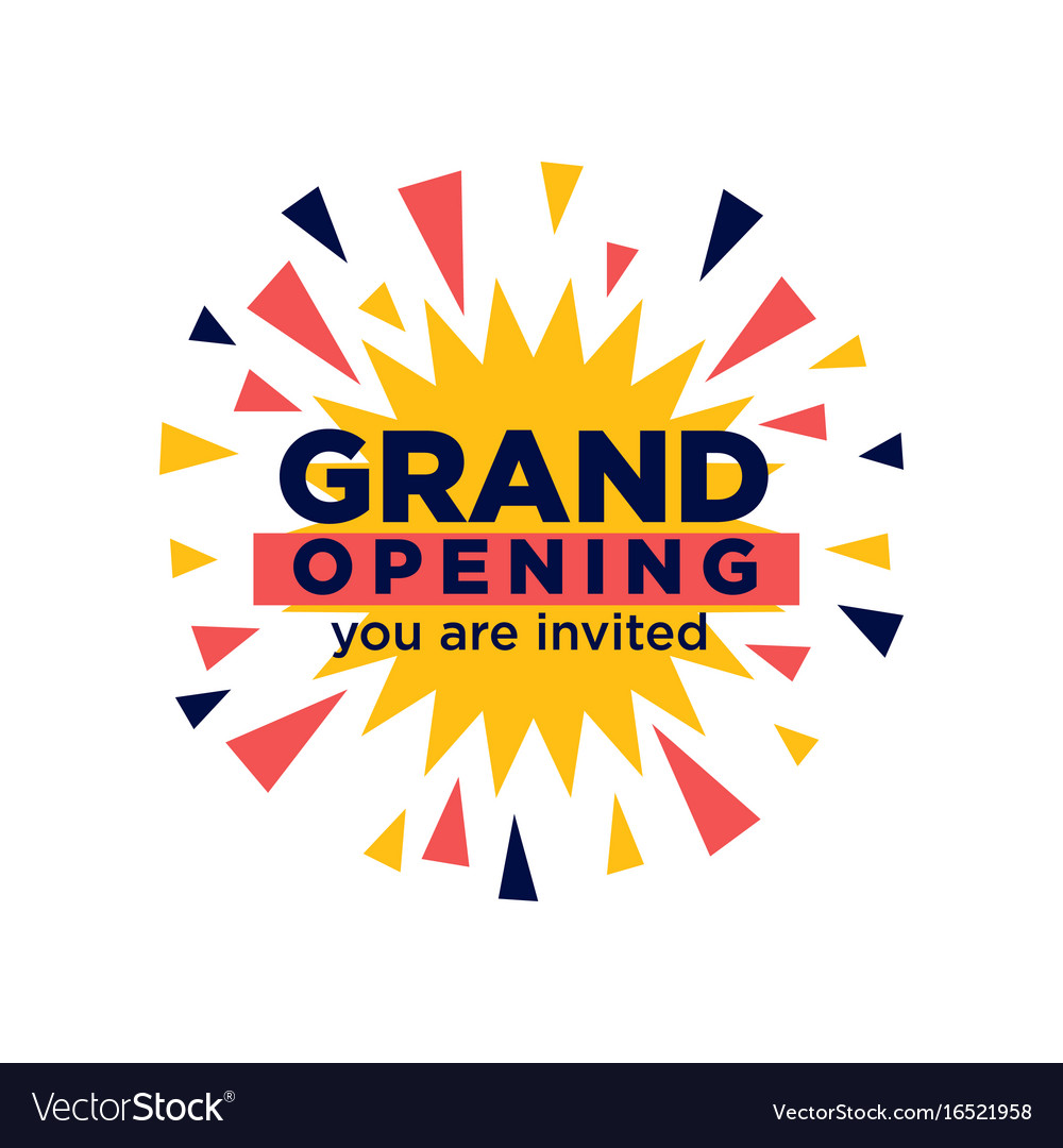 Grand Opening Invitation Minimalistic Royalty Free Vector
