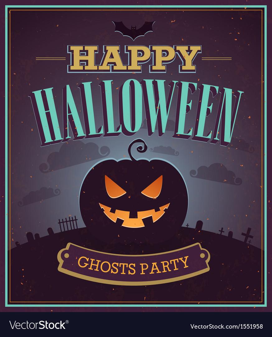 Happy Halloween typographic design