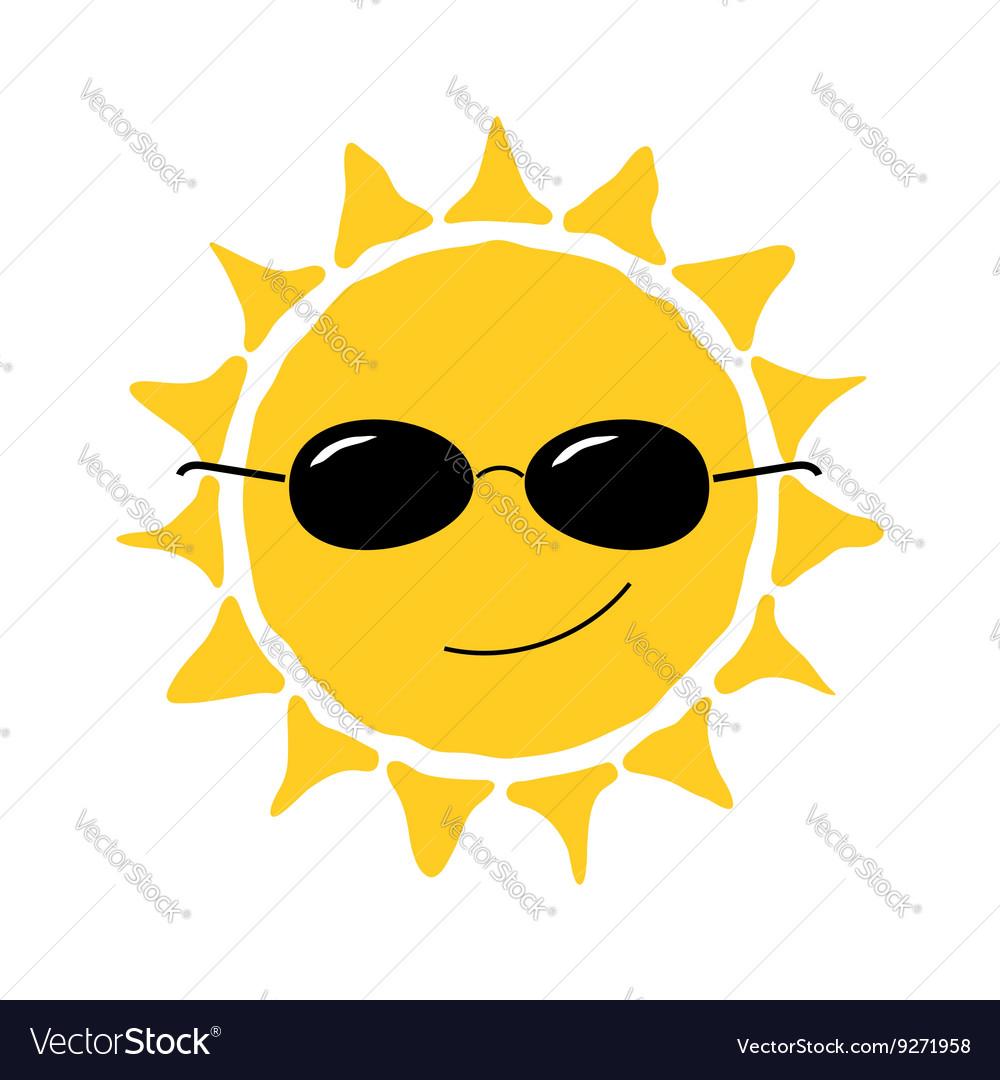 Happy sun fun icon