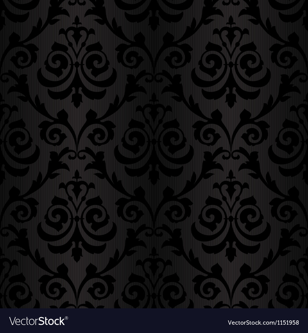 Seamless Black Silk Wallpaper Pattern Royalty Free Vector