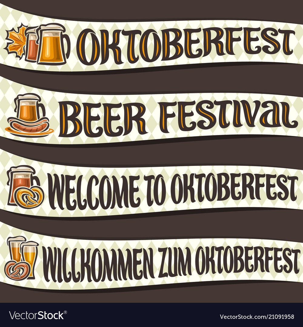 Set of ribbons for oktoberfest