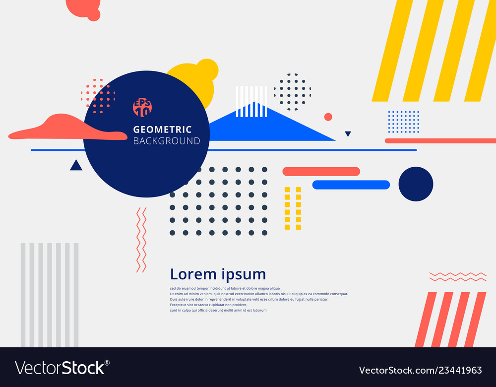 Abstract modern composition elements geometric
