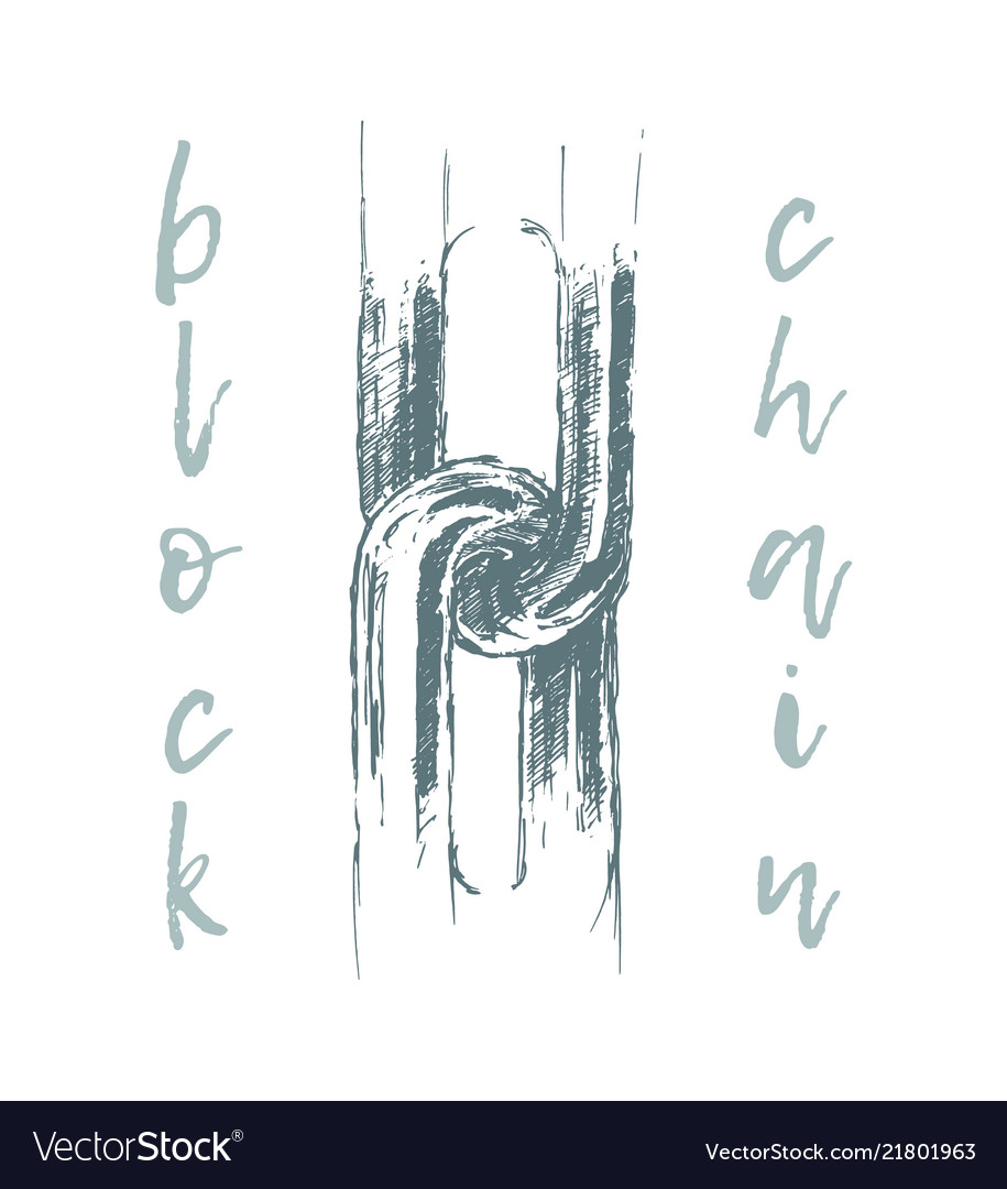 Business A Concept Broken Chain Blockchain Vector Image