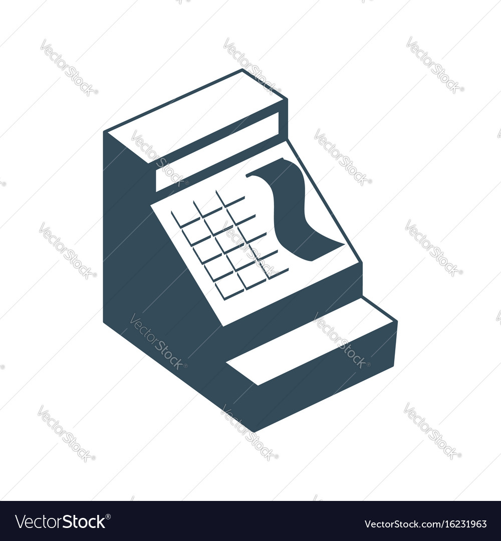 Cash register isolated financial accessory store