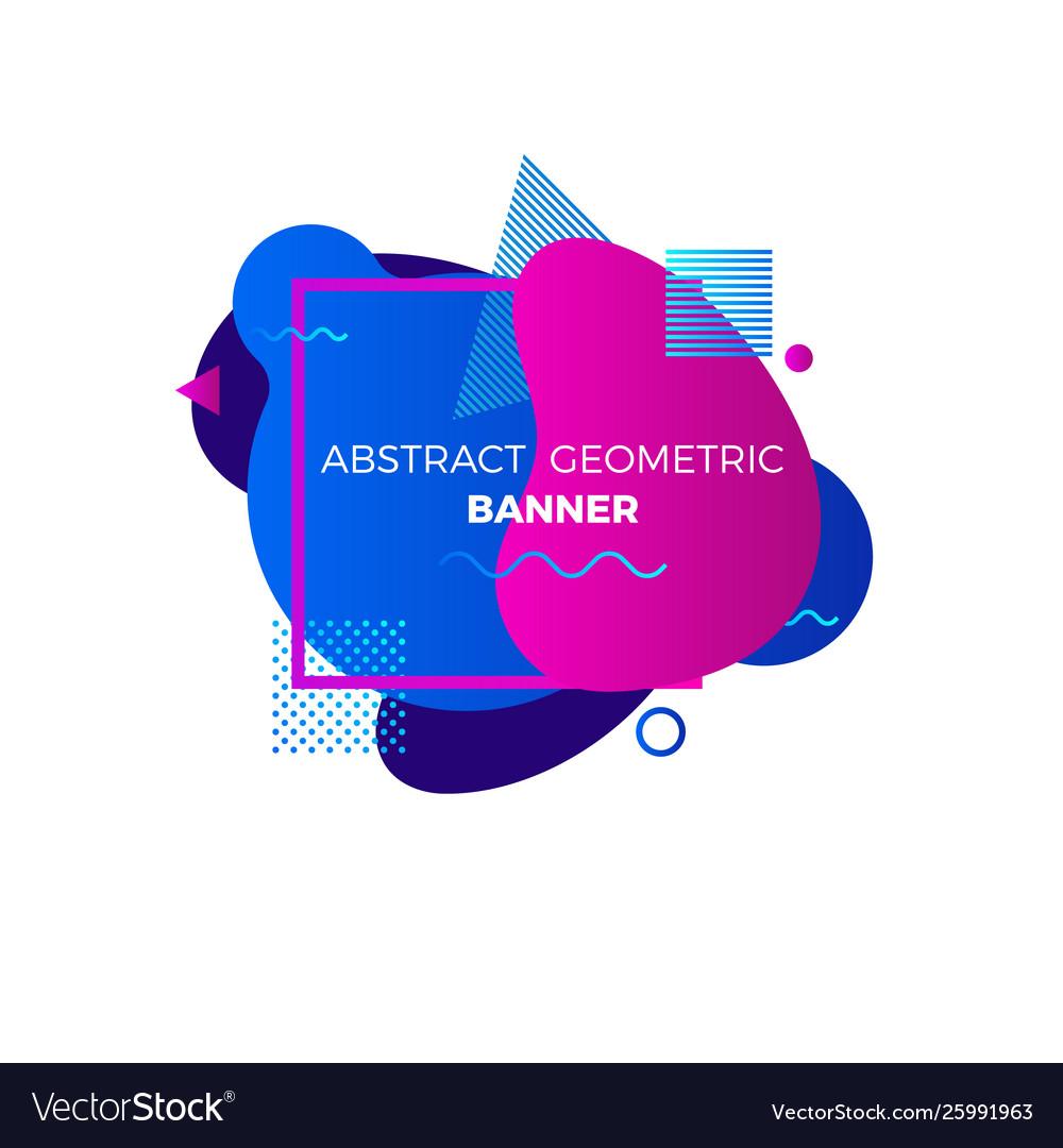 Creative geometric banner template colorful blue