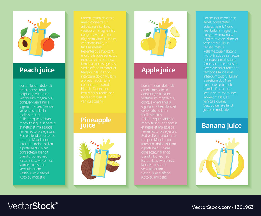 Fruit smoothie collection Juices and beverages
