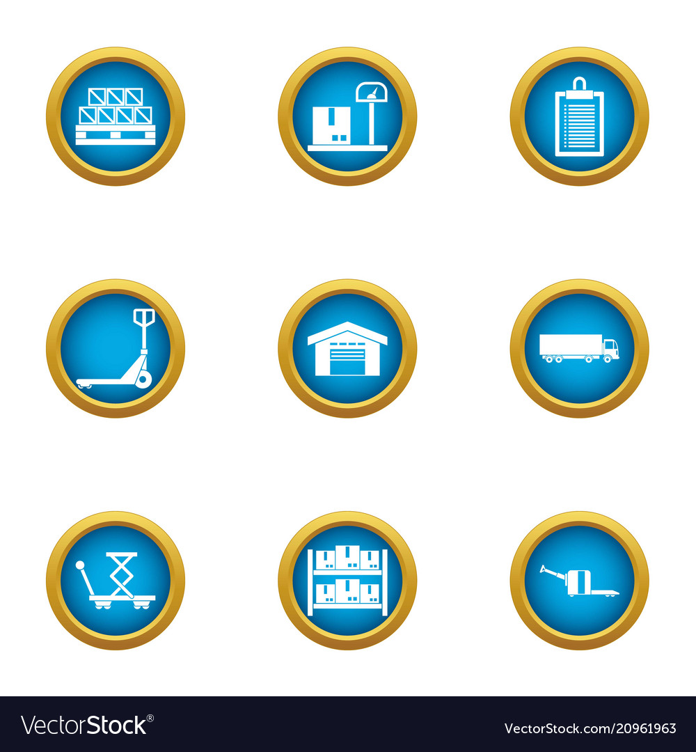 Home Depot Icons Set Flat Style Royalty Free Vector Image