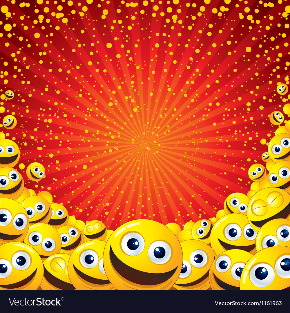 Joyful Smiley Background Image with free space for vector image