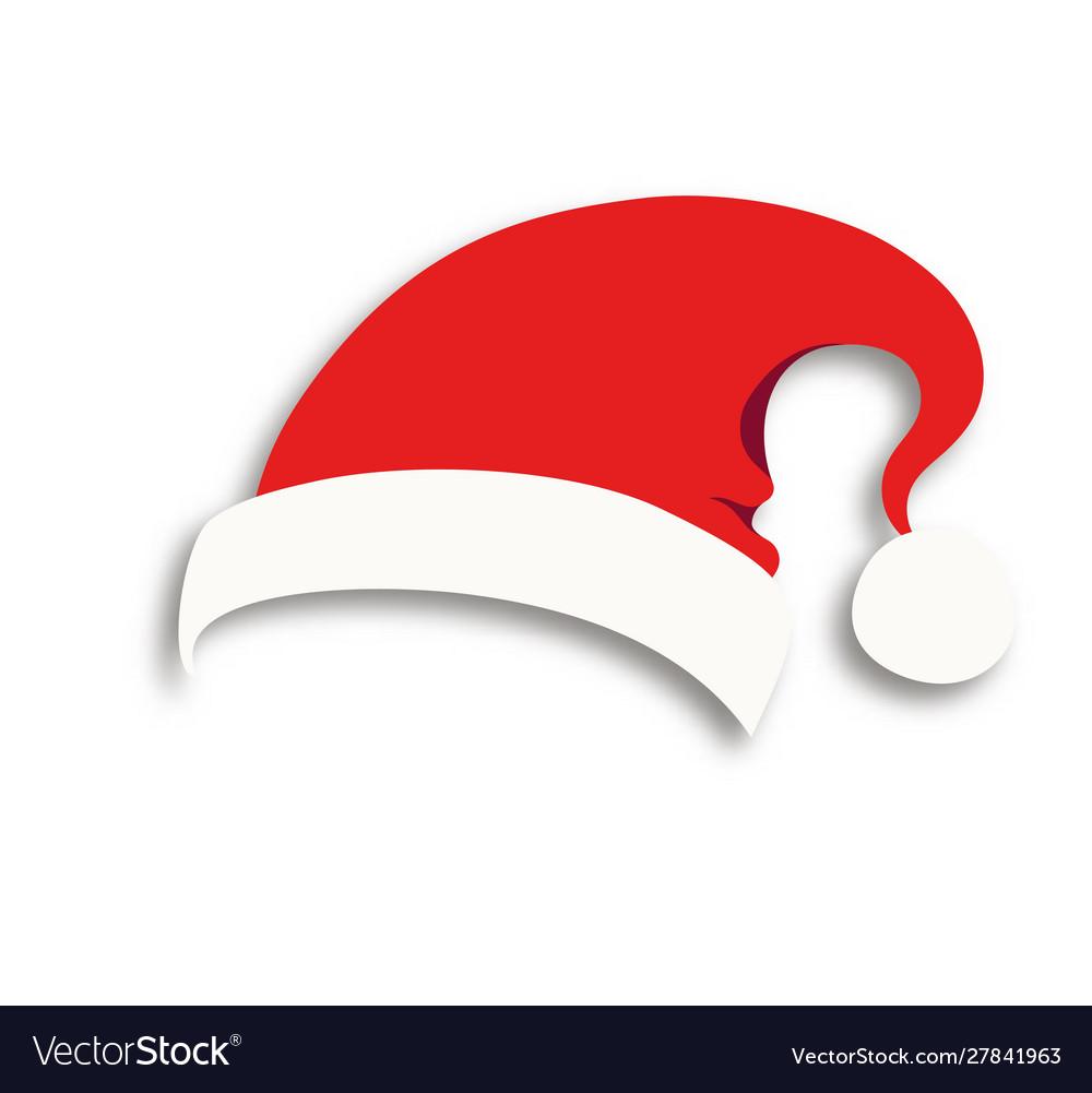 Santa hat isolated on transparent