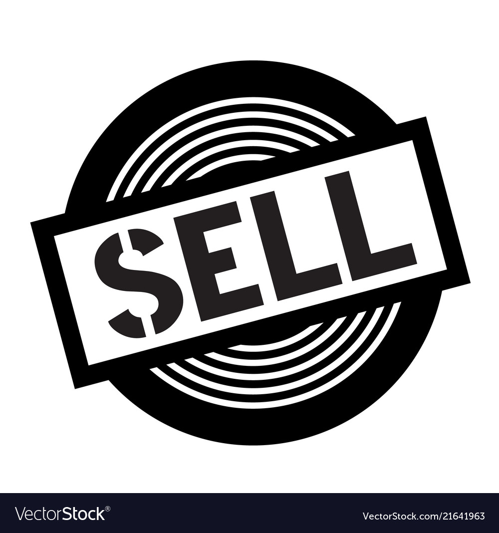 Sell black stamp Vector Image