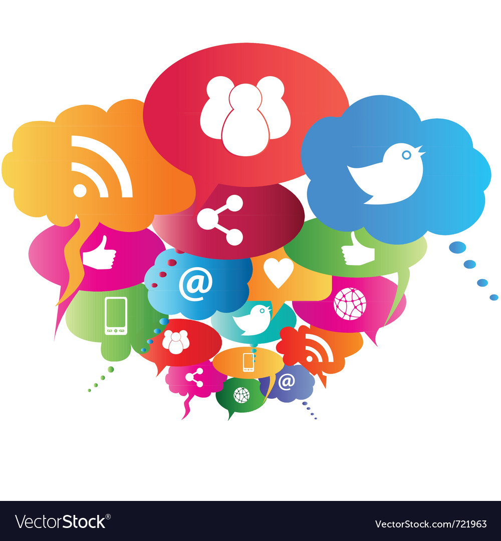 social media icons royalty free vector image vectorstock