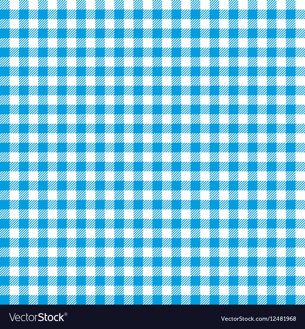 Blue checkered tablecloths patterns vector image