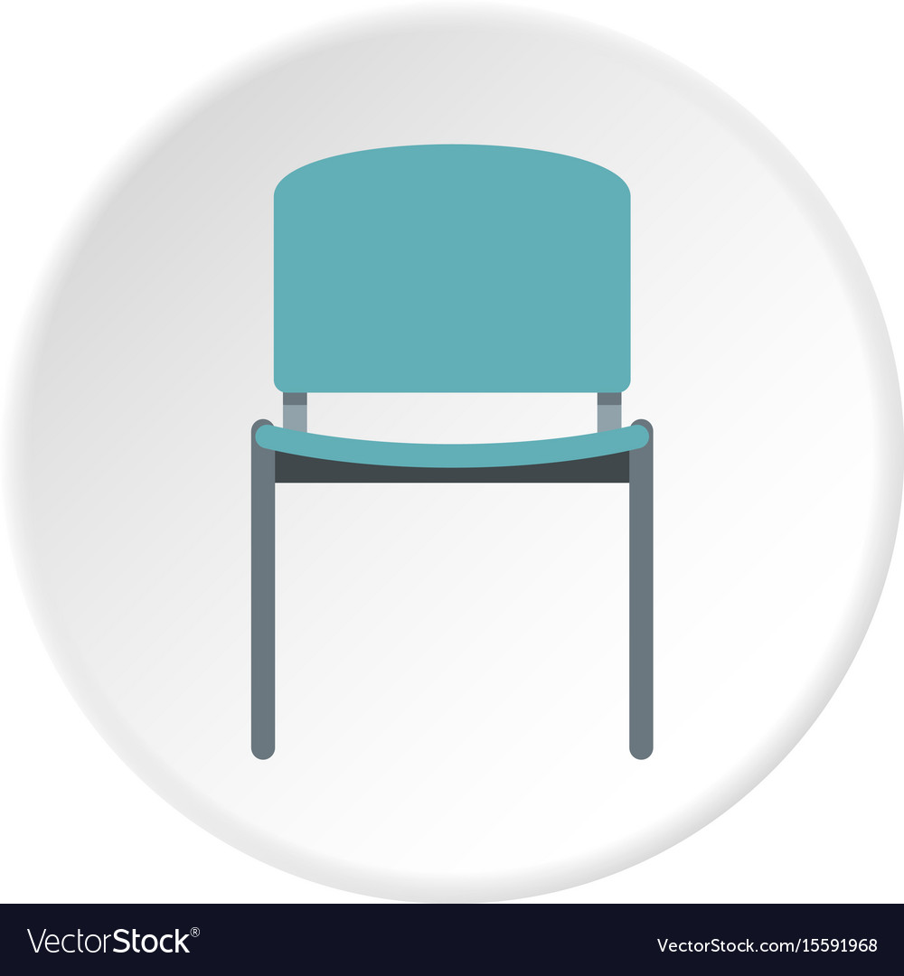 Blue Office Metal Chair Icon Circle Vector Image