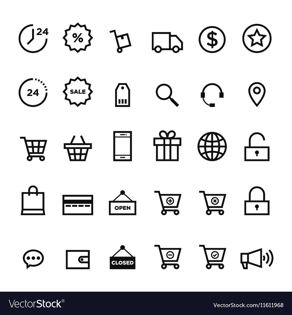 E-commerce outline icon set