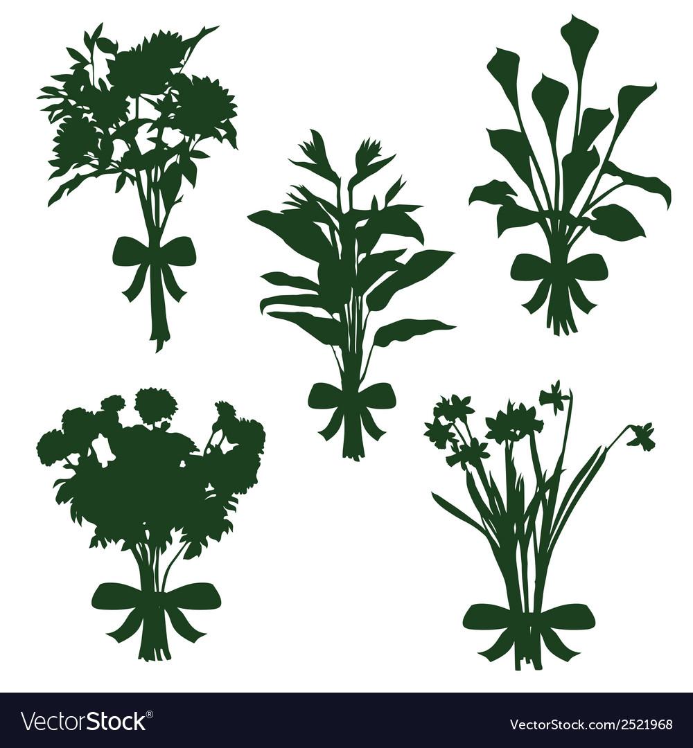 Flower bouquets vector image