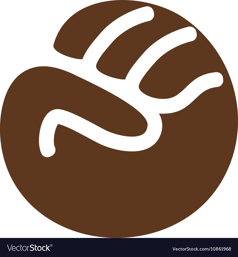 Isolated abstract brown color fist logo human