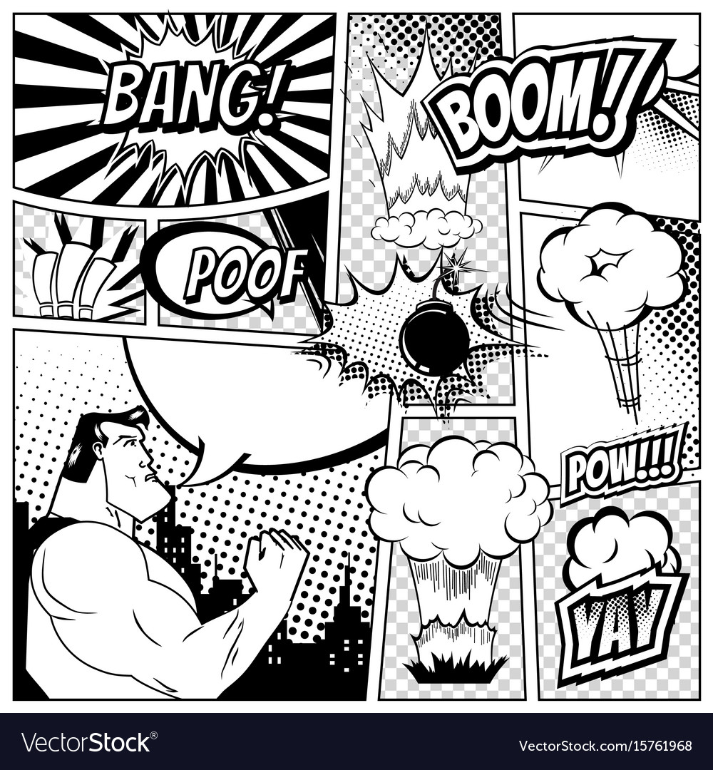 Set of comics speech and explosion bubbles on a