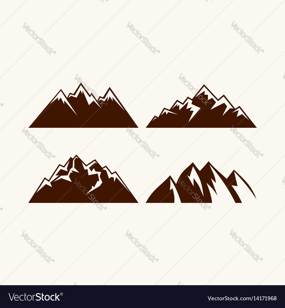 Set of mountains for the logo