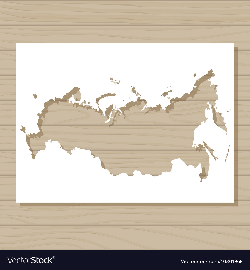 Stencil template of russia map on wooden vector image gumiabroncs Images